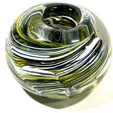 Lenox Millefiori Collection Taper Candle Holder Art Glass Paperweight