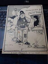 ERNEST NOBLE CARTOON ALFRED GELDER HULL (CITY CULTURE ) POLICE   1908 CAVEMAN