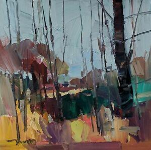 JOSE TRUJILLO Oil Painting IMPRESSIONISM Contemporary Landscape 12X12 nr