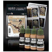 Scale 75 War Front US Army Uniforms 1942-44 WW2 Acrylic Paint Set 4 Bottles