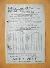 MILLWALL v NEWCASTLE UNITED Friendly 1945/1946 Good Condition Football Programme