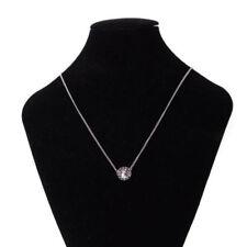 Collares y colgantes de bisutería de cristal de metal plateado