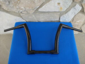 "12"" BLACK DNA MONSTER FAT APE HANGER BARS 1-1/2"" HARLEY HANDLEBARS"