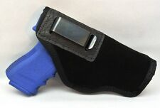 SUEDE LEATHER INSIDE PANTS GUN HOLSTER FITS SML .380 AUTOS Walther, PA63 BLACK