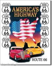 Targa di Latta 31 x 40, America`S Highway, USA Werbeschild Art. #605