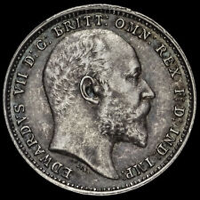 More details for 1906 edward vii silver maundy fourpence, g/ef