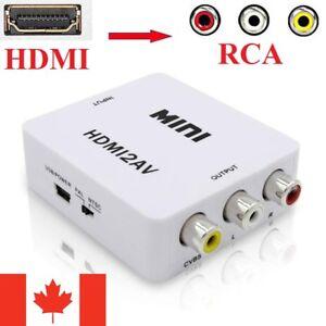 HDMI to RCA Adapter Box Composite AV CVBS Video Converter Full HD 1080p 720p