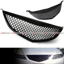 Mesh Honeycomb Glossy Black ABS Front Grill Grille Black 2003-2005 Mazda 6