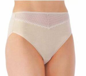 Size 9 Cotton Hi-Cut Panties Vanity Fair 13129 Beautifully Smooth NEW 4 Colors