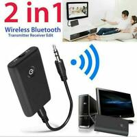 2 in 1 Wireless Bluetooth Audio Aux 3.5mm Adapter Audio Transmitter Receive S5S5