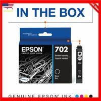 Epson 702 DURABrite Ultra Black Ink Cartridge for WorkForce Pro WF-3720 Printer
