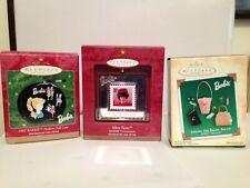 3 Hallmark Barbie Ornaments - 1992 - 1999 & A 2004 Miniature