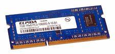 Elpida EBJ10UE8BDS0-DJ-F (1GB DDR3 PC3-10600S 1333MHz SO DIMM 204-pin) Memory