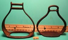2 RARE & Unusual 1700's Solid Iron Hand Forged Side Saddle Riding Stirrups