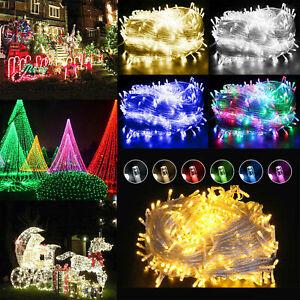 20-50m Guirlande Lumineuse Lumière Féérique Extérieur Imperméable Noël Décor