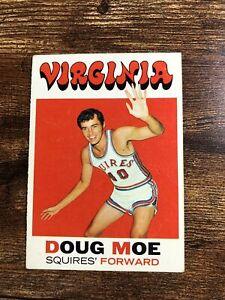 Doug Moe 1971-72 Topps Rookie Basketball Card Virginia Squires #181