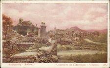Athens Greece Cemetery Cimetiere c1910 Postcard