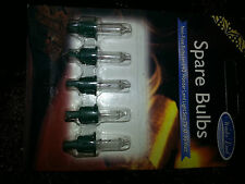 5x CLEAR 7W 0.35W Replacement Christmas Tree Lamp Light Bulb 140 Light Set S108C