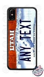 Utah State Customized License Plate Phone Case Cover Fits iPhone Samsung Google