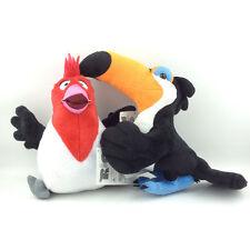"2X Rio the Movie Plush Toy Pedro 7"" Rafael 8"" Crested Toucan Bird Stuffed Animal"