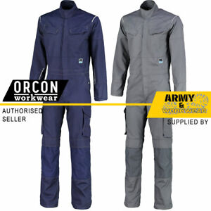 Heavy Weight Coverall Boilersuits Cargo Multi & Knee Pad Pockets Elasticated