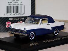 FORD TAUNUS 17M SOFT TOP 1957 DETAIL CARS ART 386 1/43