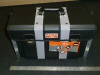 """BAHCO FRONT OPENING LEATHER RIGID TOOL CASE BAG Genuine 440mm 17"""" NEW 4750FOLTC1"""
