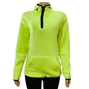 VICTORIAS SECRET PINK Oversized Fleece  Pullover Sweatshirt Neon Yellow $79