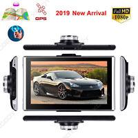 "7"" Vehicle GPS Navigation HD 1080P Car DVR Video Recorder Camera Dash Cam Wifi"