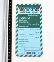 Air Malta - Abordando Pase - Turista Clase - 1980s - Buen Estado