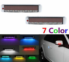 2Pc Door Edge Guards Scratch Protector Solar Strobe Warning Light For Mitsubishi