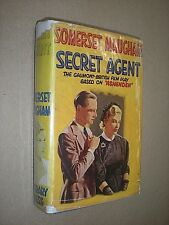 SECRET AGENT. SOMERSET MAUGHAM. (1936) ALFRED HITCHOCK FILM EDITION. HB in DJ