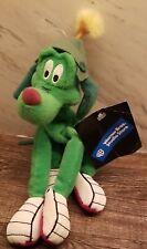 "Warner Bros K-9 Marvin Martians Green Alien Dog 9"" Bean Bag Stuffed Plush Animal"