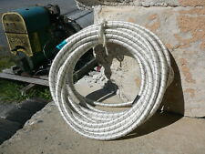 """White/Black Nylon Coated Rubber Rope Shock Cord 3/8"""" X 25' Discounted Bungee"""