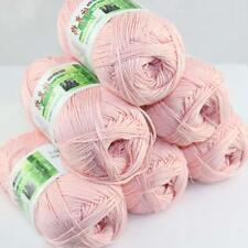 Sale Lot 6 ballsx50g Super Soft Bamboo Cotton Baby Hand Knitting Crochet Yarn 21