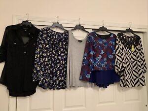 Lot Womens Plus Tops NWT!! Eloquii, INC, Style&Co, 0X-1X, 14-16, Rtl$200+