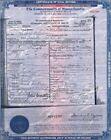 Lizzie Borden DEATH CERTIFICATE Historic Document, 1927 Fall River, Mass