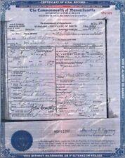 LIZZIE BORDEN Death Certificate RARE Historic Document, 1927 Fall River, Mass