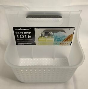MADESMART Organizer NWT Soft Grip Tote 2 Compartments Frost/ Gray