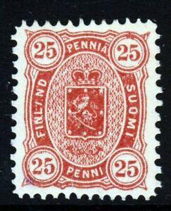FINLAND 1881 25 Penni Lake Perf 12½x11 SG 94 Michel #17Da MINT