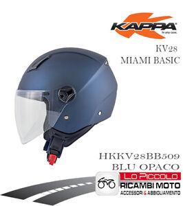 Casco Demi Jet Miami Básico KAPPA KV28 Color Azul Mate Mal L 59