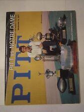1977 NOTRE DAME VS PITTSBURGH COLLEGE FOOTBALL PROGRAM - TUB Q