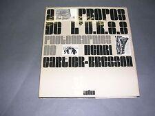 Henri Cartier Bresson l'Urss Edition du Chêne 1973 reliure jaquette photos 1973