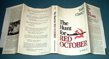 HUNT FOR RED OCTOBER by TOM CLANCY  1st Ed/1st printing/dj SUPERB CONDITION!