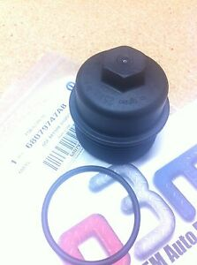 Dodge Jeep Chrysler 3.6L engine Oil Filter Screw On CAP w/ O-Ring seal new OEM