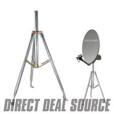 "3Ft. Universal Satellite Dish Antenna RV Tripod 36"" inch X 1.66"" or 2"" OD Mast"