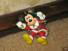 Mickey Mouse with Christmas Lights  Christmas Ornament