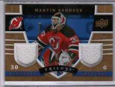 2008-09 UPPER DECK TRILOGY MARTIN BRODEUR DUAL JERSEY RELIC HONORARY SWATCHES