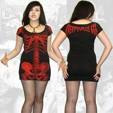 Kreepsville 666,skeleton dress/black with red skeleton, alternative, gothic wear