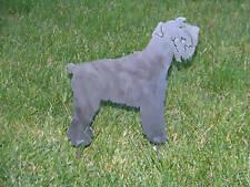 Miniature Schnauzer Dog yard garden flower art stake